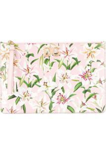 Dolce & Gabbana Floral-Print Clutch - Rosa