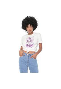 Camiseta Tô Só O Pó Da Rabiola Baita Peita Off White