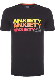 Camiseta Masculina Anxiety - Preto