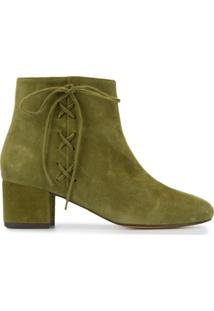 Tila March Ankle Boot Com Cadarço - Verde