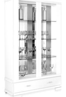 Cristaleira Ornare Com Espelho 2 Pt 1 Gv Branca