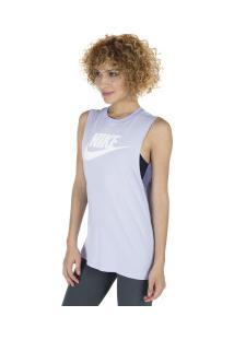 Camiseta Regata Nike Sportswear Tank Essential - Feminina - Roxo Claro