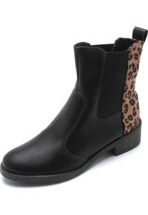 Bota Dafiti Shoes Onça Preta