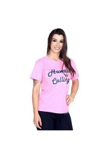 Camiseta Shatark Hawaii - Rosa