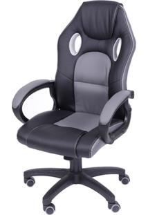 Cadeira Game Preto Cinza Or Design