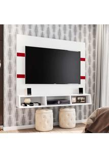 """Painel Marrocos Para Tv 55"""" - Poliman - Branco / Marsala"""