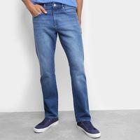 0c41e496e Calça Jeans Reta Calvin Klein Estonada Five Pockets Straight Masculina -  Masculino