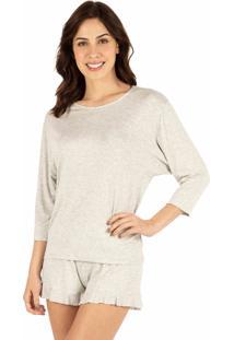 Pijama Curto Babados Homewear Mescla - 589.072 Marcyn Lingerie Short Doll Multicolorido
