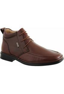 Sapato Casual Conforto Mafisa Cadarço - Masculino-Marrom