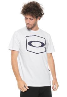 Camiseta Oakley Hexagonal Branca