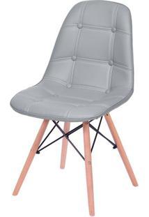 Cadeira Eames Botone Cinza Base Madeira - 53445 Sun House