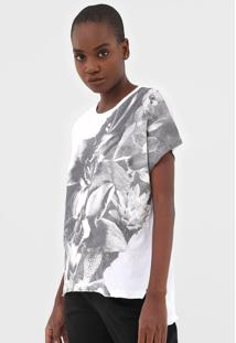 Blusa Calvin Klein Jeans Flor Branca - Branco - Feminino - Algodã£O - Dafiti
