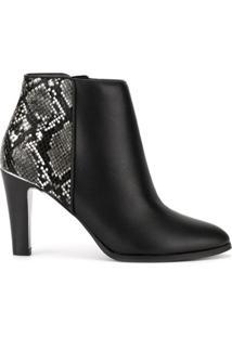 Loveless Ankle Boot Com Animal Print - Preto