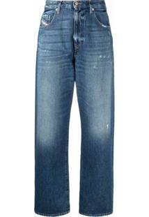 Diesel Calça Jeans Pantalona Cenoura - Azul