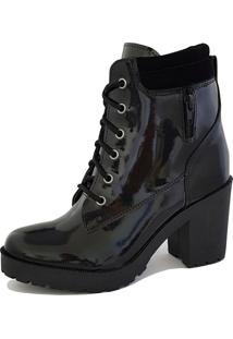 Bota Trivalle Shoes Tratorada Verniz Ziper