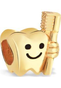 Pingente Life Dente Com Escova Odontologia