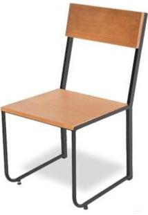 Cadeira Aspen Sem Braço Tampo Mel Base Preta 86Cm - 62444 - Sun House