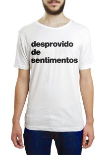 Camiseta Hunter Desprovido De Sentimentos Branca