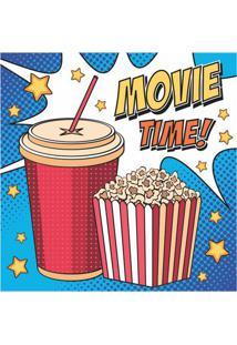 Placa Decorativa Movie Time 25X25 Cm Preto