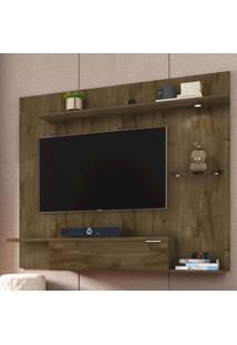 Painel Para Tv Até 55 Polegadas 1 Porta 4 Prateleiras Ubatuba 2075222 Rústico - Bechara Móveis