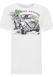 Camiseta Masculina Fusca - Branco