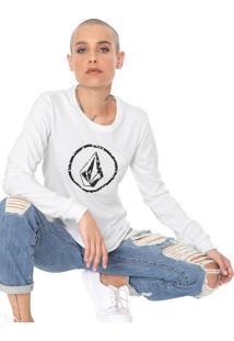 Camiseta Volcom Falling Ditsy Branca