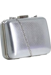 Bolsa Zariff Shoes Clutch Metalizada