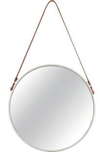 Espelho Mart Em Metal Branco