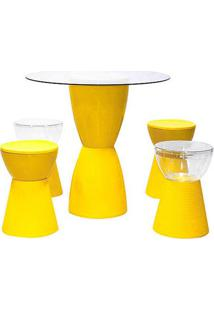 Conjunto Kitchen Polipropileno Cor Amarelo - 29946 - Sun House