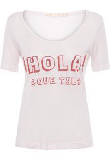 Blusa Feminina Silk Hola Que Tal - Rosa