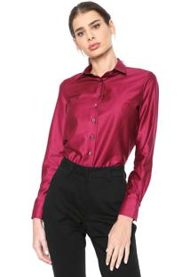 Camisa Dudalina Cetim Pink