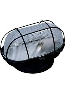 Arandela Tartaruga Com Grade 17X9Cm 1 Lâmpada E27 Bivolt - Preto