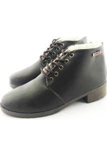 Bota Coturno Forrada Em Lã Quality Shoes Feminina Courino Café 36