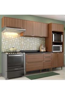 Cozinha Completa Multimã³Veis Com 5 Peã§As Calã¡Bria 5457 Nogueira - Incolor/Marrom - Dafiti