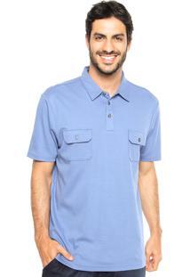 Camisa Polo Perry Ellis Bolso Azul