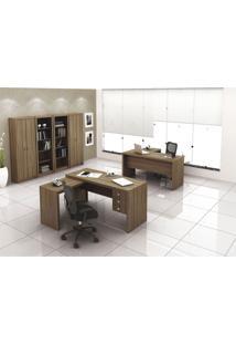 Mesa Para Computador Office Me 4106 Tecno Mobili Marrom