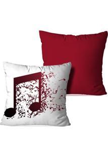 Kit 2 Capas Para Almofada Decorativas Nota Musical 35X35Cm