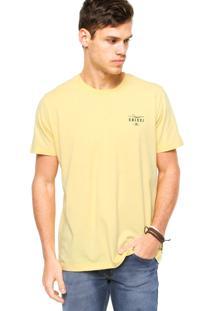 Camiseta Manga Curta Colcci Slim Logo Amarela