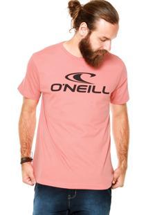 Camiseta O'Neill Estampada Corporate Coral