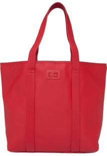 Bolsa Lacoste Textura Vermelho