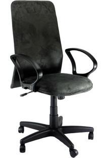 Cadeira Presidente Absolut Tela Suede Preto/Grafite