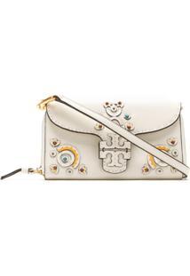 Tory Burch Mcgraw Embellished Wallet Cross-Body - Branco