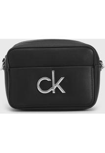 Bolsa Calvin Klein Logo Preta