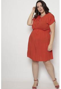 Vestido Liso Com Amarração- Laranja- Arsenalarsenal