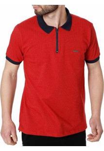Camisa Polo No Stress Masculina - Masculino-Vermelho