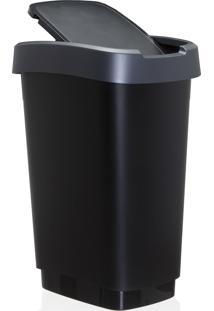 Lixeira Reciclagem Rotho Plastico Cinza 25Litros