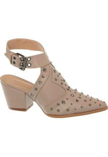 Summer Boot Fendi Com Spikes E Cravos E Salto Bloco Alto