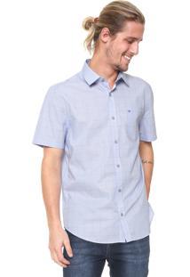 Camisa Calvin Klein Reta Monte Azul/Branca
