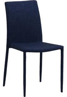 Cadeira Tecido Jeans Azul-Marinho Ór Design 4403