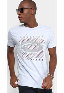 Camiseta Gangster Estampado Masculina - Masculino-Cinza